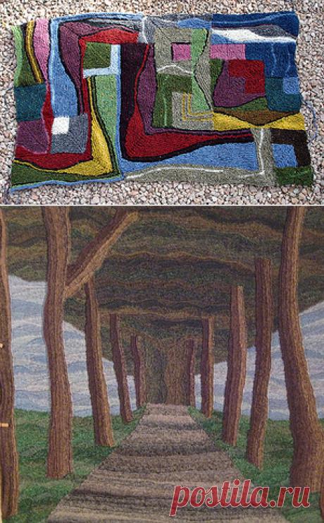 Swing-knitting or rotary knitting.