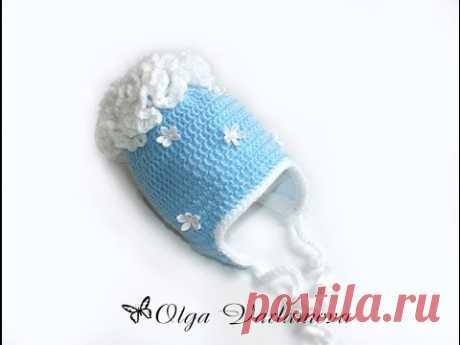MK el gorrito Caliente por el gancho con podkladom de flisa. (La Parte 1) Crochet. Crocheted hat (cap). - YouTube