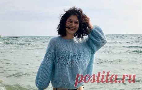 Пуловер из мохера Noctilucent Clouds - Вяжи.ру