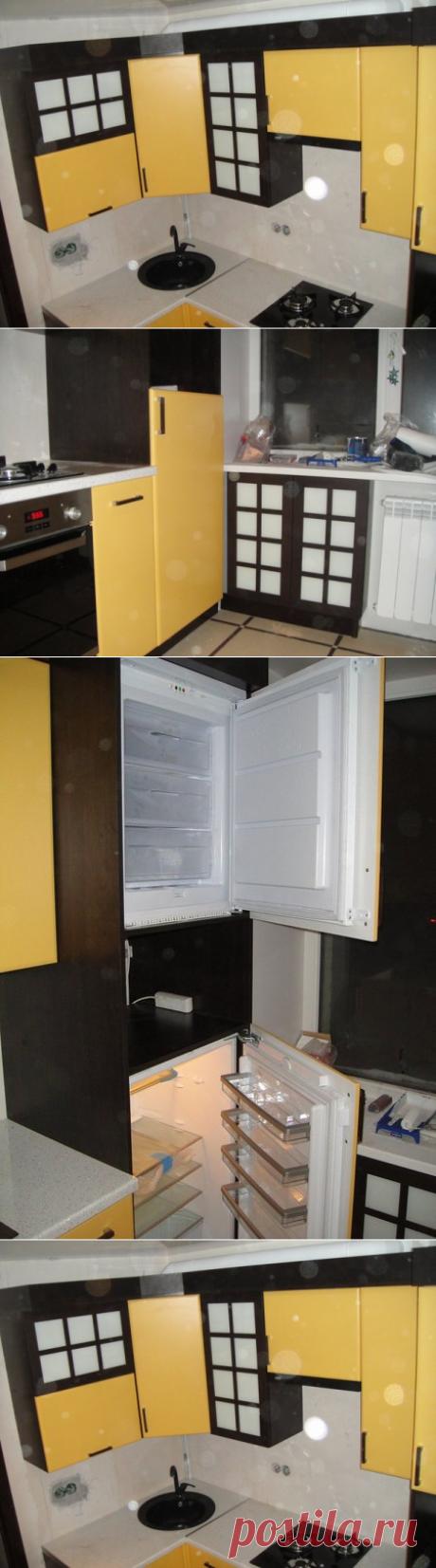 Кухня 6 кв.м. с отдельной холодильной и морозильной камерами, а также с замаскированной газовой колонкой. Узнать тут
