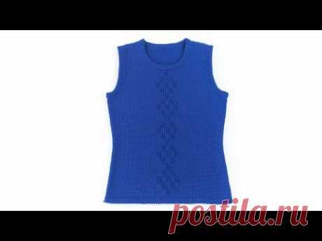 Вязаный жилет для девочки . Knit vest for girls