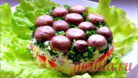 Салат «Грибная поляна»: рецепты с фото | ШефМаркет | Яндекс Дзен