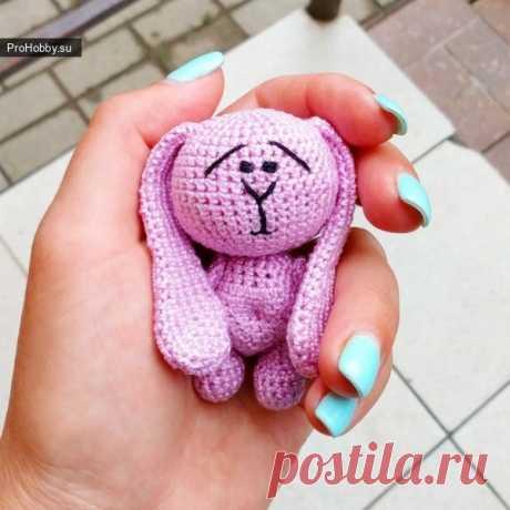Зайка малютка / Вязание игрушек / ProHobby.su   Вязание игрушек спицами и крючком для начинающих, мастер классы, схемы вязания