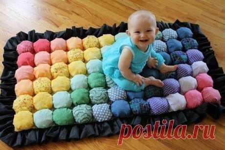 Как сшить мягкий коврик для детей.