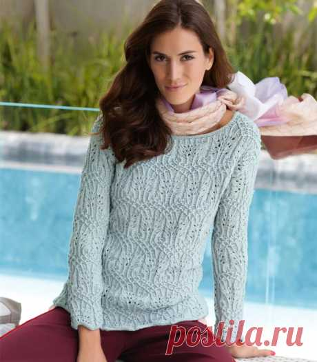Ажурный пуловер с барочным узором