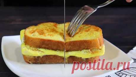 2 яйца и 2 ломтика хлеба. Вкуснятина НА ЗАВТРАК за считанные минуты!