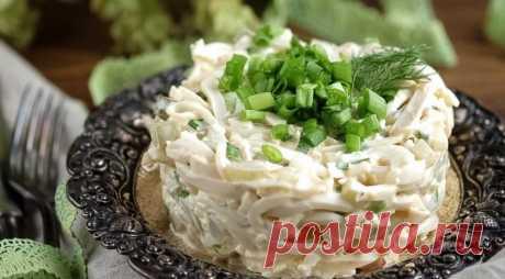 Тающий во рту… невероятно нежный салат из кальмаров — Вкусные рецепты