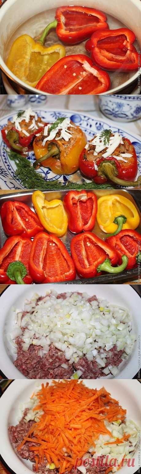 Фаршированный перец в духовке / Рецепты с фото