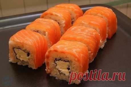 """Ролл """"Филадельфия"""" Любите суши? Попробуйте приготовить их сами!"""