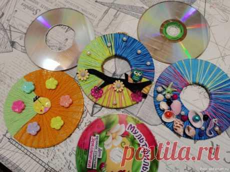 Простая идея из CD дисков). Видео МК | Приятные полезности и безделушки