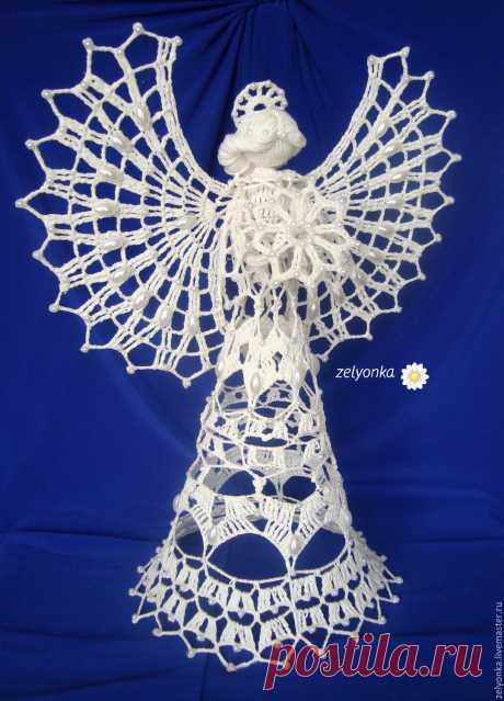 Ангел Алессия – купить в интернет-магазине на Ярмарке Мастеров с доставкой Ангел Алессия - купить или заказать в интернет-магазине на Ярмарке Мастеров | Очень нежный воздушный ангел  . Ангел связан в…