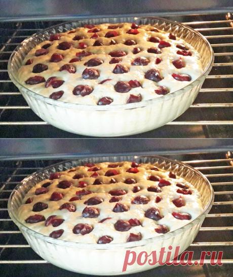 """Пирог """"Всего по стакану"""" - вкусный, простой и большой!"""