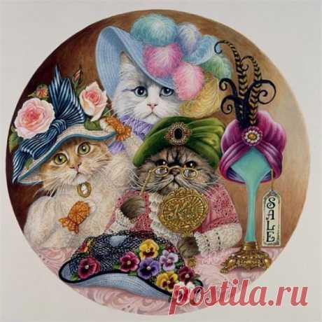 Картинки для декупажа. Котики. Комментарии :... / Животные / коты / Pinme.ru / Pinme