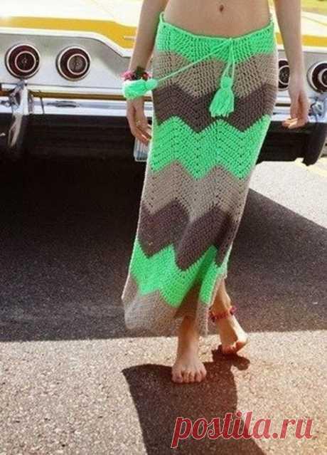 Вязаная юбка — юбка для смелых | Журнал Ярмарки Мастеров