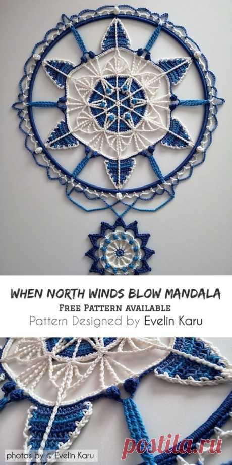 When North Winds Blow Mandala Pattern #crochet #mandala #freecrochetpattern #craft #homedecor #homeideas #crochetlove #crochethomedecor