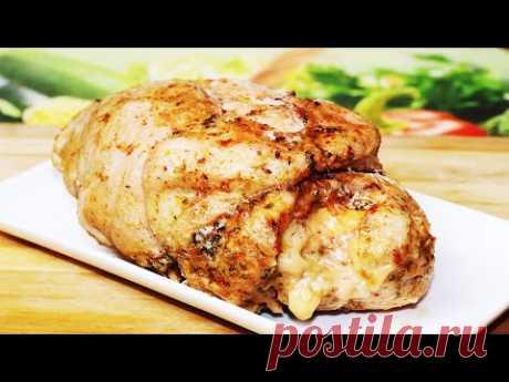 Обалденно Вкусный Рулет из куриной грудки в Духовке /  Вкуснейшая Буженина из куриной грудки