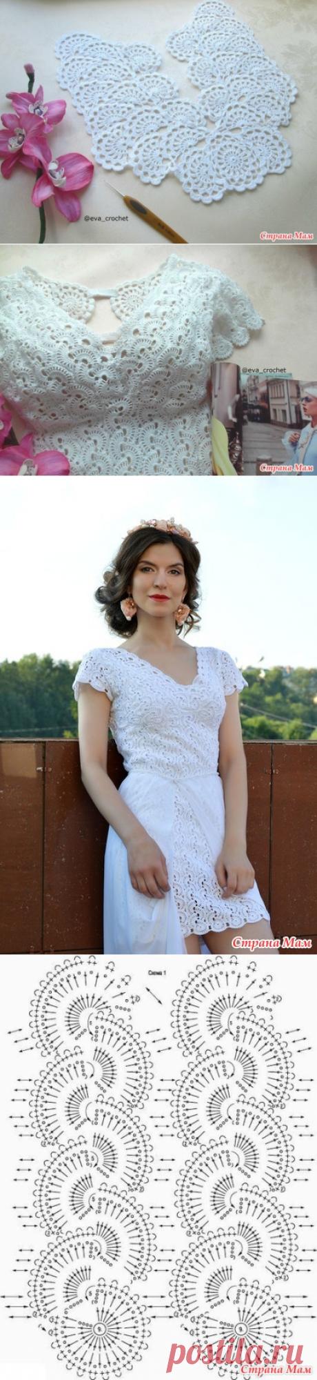 Маленькое белое платье. Реплика платья Любы Сергеевой. - Вязание - Страна Мам