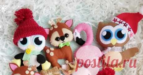 Ёлочные игрушки из фетра Автор: mobilfelt