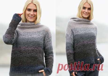 Стильный вязаный свитер Cloudscape - Хитсовет
