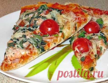 La pizza con los peces cartilaginosos