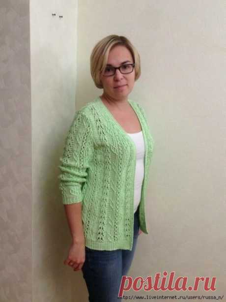 Gentle female jacket spokes, the scheme for knitting