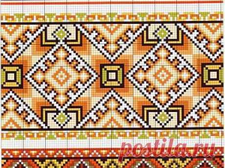 El bordado oberezhnaya con los ejemplos de los esquemas y el significado de los símbolos Por los trajes eslavos públicos es posible leer la historia del pueblo. Si la muchacha llevaba una trenza y el kokóshnik, entonces ella no casada. Por las rayas sobre el dobladillo del sarafán de la mujer adulta era posible comprender, en que localidad vive, que gana la vida su familia. El dibujo bordado era habitualmente el tributo del respeto a los dioses paganos. Los ornamentos nacionales eran llevados en unos siglos y ahora adornan las camisas rusas, y ucraniano vyshivanki.