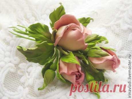Великолепные цветы из кожи от Ирины Влади