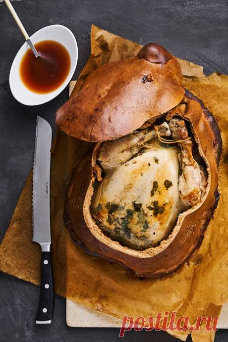 Рецепт курицы в тесте на пекарском камне| baking-stone.ru