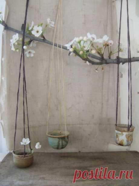 Vintage miniature hanging pots