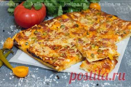 Двойная пицца – рецепт приготовления с фото от Kulina.Ru
