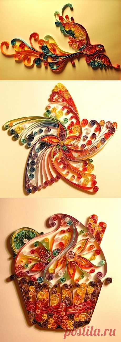 Скручивание цветной бумаги в невероятные шедевры | Ультрамарин