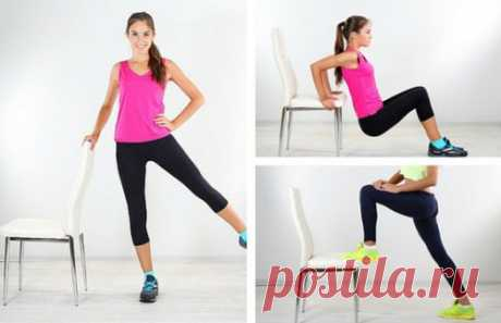 To be easy in shape! 5 exercises with chairs