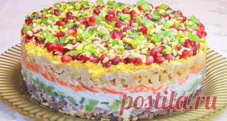 Невероятно красивый праздничный салат «Драгоценная россыпь» - Блогурец