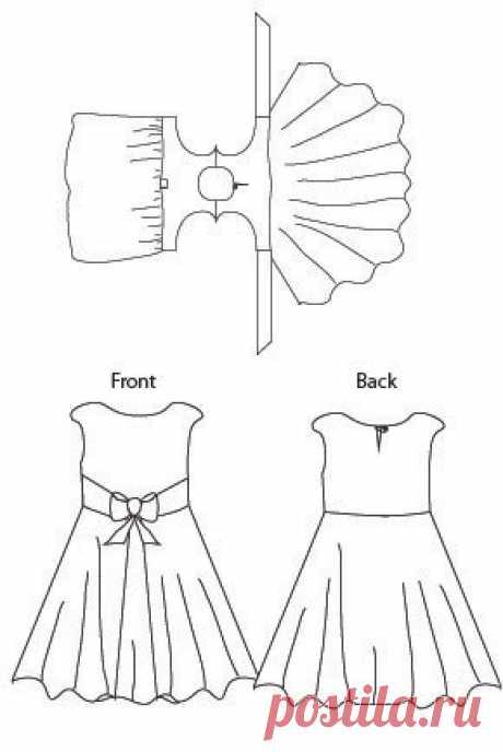 Amaryllis Girls Dress Sewing Pattern - Blank Slate Patterns | Blank Slate Patterns