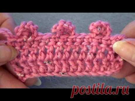 Вязание крючком. Объемное пико