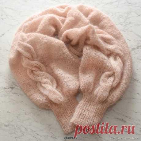 Связать шаль рукава схема и описание с фото | Вязана.ru