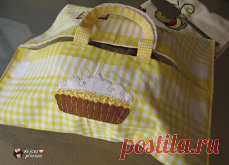 Простая в исполнении сумка для переноса тортика