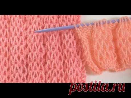 Пышные валики спицами / Extended Stitch Rollers
