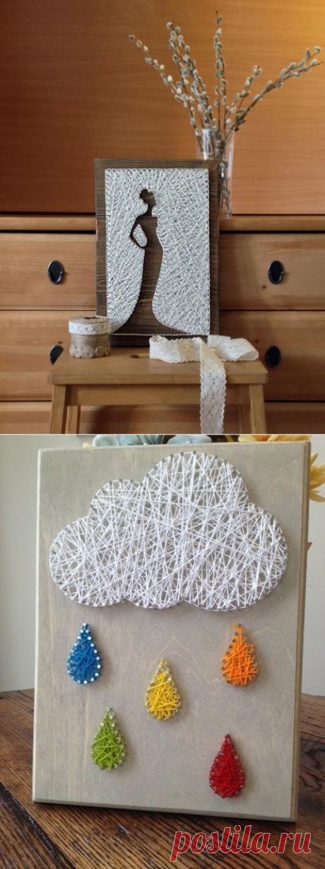 Коллекция идей string art
