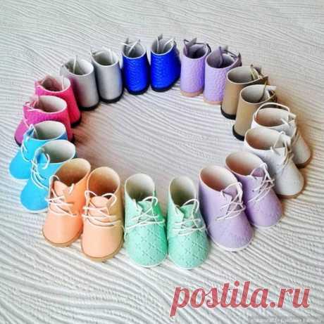 Ботиночки для кукол и игрушек. Выкройка и мастер-класс. Автор: Макарова Наталья.