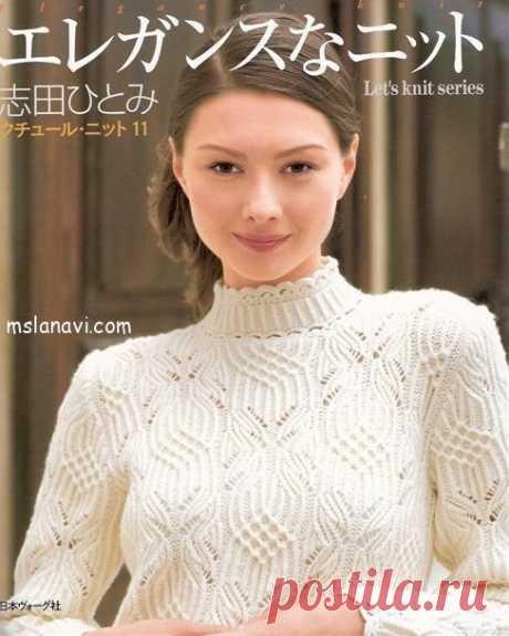 Ажурный пуловер с узором бабочки - Вяжем с Лана Ви Девочки, очередная красота — ажурный пуловер спицами снекими бабочками. Во всяком случае, этот узор вызывает у меня именно такие ассоциации. Как всегда, мастерство поражает и вдохновляет! Вязаные пуловеры на Далеком Востоке — по истине просто загляденье, от дизайна до техники вязания. Обратите внимание, что ворот пуловера выполнен крючком, как и манжеты рукавов и, скорее всего, […]