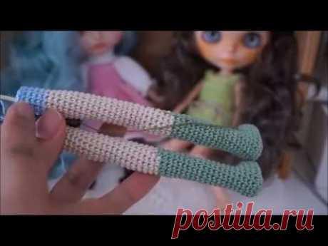 How to crochet slim doll body / doll crochet
