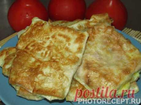 Жареные конвертики из лаваша - рецепт с фото пошагово