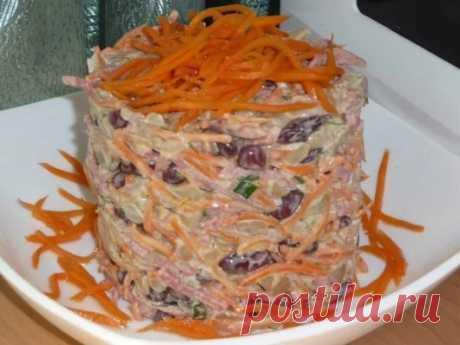 """САЛАТ """"ФАСОЛИНКА"""" ##кулинария ##рецепты ##салаты Ингредиенты: 200 г. красн..."""
