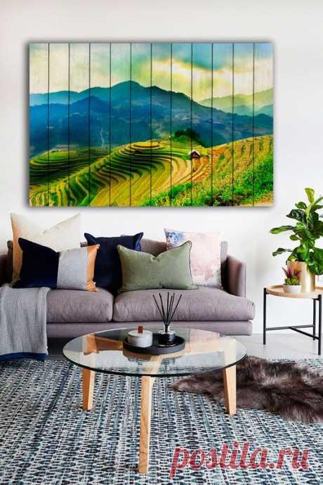 """Картина """"Рисовые поля"""" по цене от 5900 руб. Размеры: 60x90 см, 80x120 см, 100x150 см, 120x180 см. Срок изготовления: 2-3 дня."""