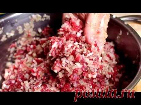 Любимое блюдо грузин. Хинкали по грузински. Готовить вкусно просто.