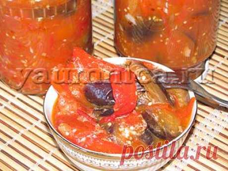 Салат из баклажанов на зиму десяточка – пошаговый фото рецепт