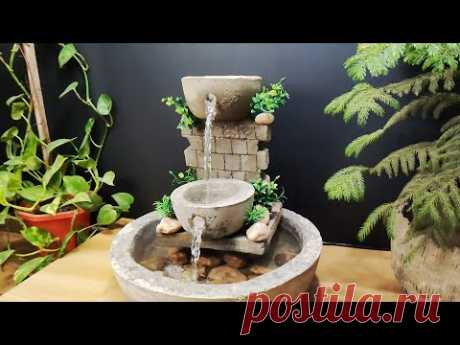 How to make amazing beautiful waterfall fountain water fountain