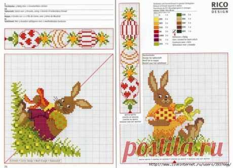 Пасхальная подборка схем для вышивки. (2) / Вышивка / Схемы вышивки крестом, вышивка крестиком