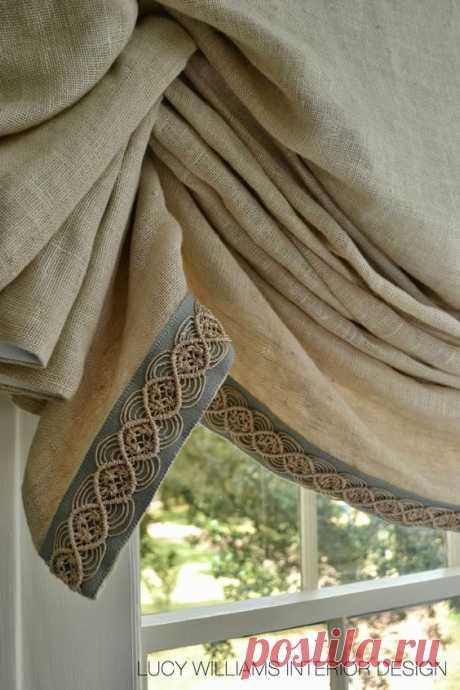 Идеи стильного оформления шторы и тюля